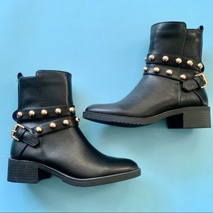 NEW Black & Gold Boots Catherine Malandrino